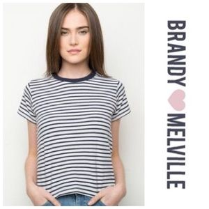 🖤Brandy Melville Striped Chloe Top🖤