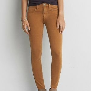 American Eagle Denim X Sateen jegging pants.