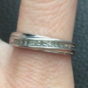Diamond 925 Sterling Silver wedding band ring