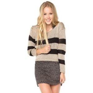 Brandy Melville Striped open back sweater, OS
