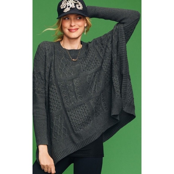 78% off CAbi Sweaters - CAbi Cable Poncho Sweater #686 from Ally's ...