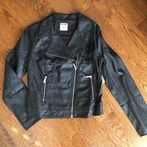 NWT Old Navy Faux Leather Moto Jacket, Sz M