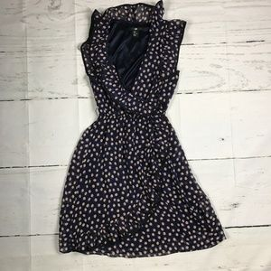 H&M Asymmetrical Ruffle Polka Dots Ruffle Dress
