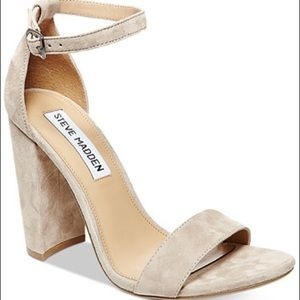 Steve Madden taupe suede heels