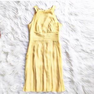 Kay Unger silk pleated halter dress