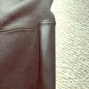 Spanx leggings with leather trim