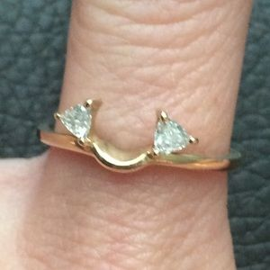14k Gold Diamond Wrap ring engagement wedding