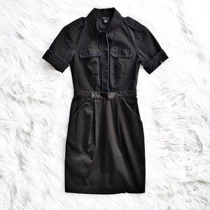 Club Monaco military inspired shirtdress