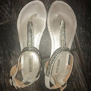 Steve Madden silver sandals size 7.5