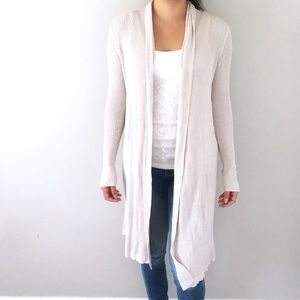 Sonoma | Ribbed Cream Long Cardigan