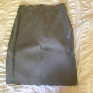 J crew grey pencil skirt size 6