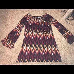 Boho bell sleeve sweater