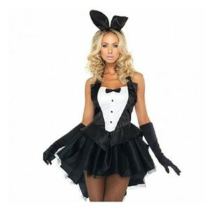 WOMENS SEXY BUNNY BUTTLER  FULL COSTUME