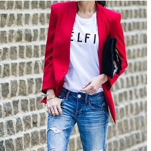 EUC POP OF RED BLAZER H&M