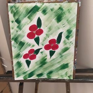 Holly Jolly Christmas Painting.
