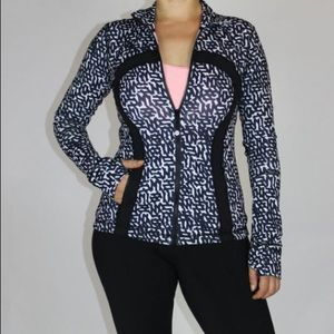 Lululemon Define Jacket Size 10 Net Pop White Blck