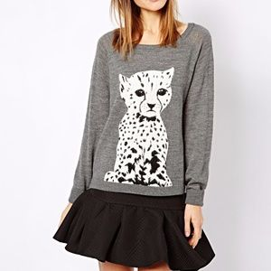 French Connection BORN TO BE FREE Leopard Sweater