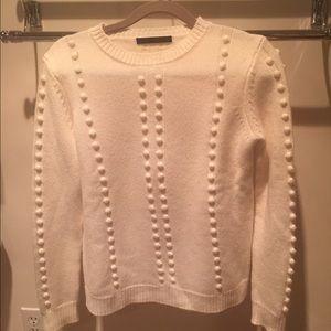 Jenni Kayne cashmere pom pom sweater