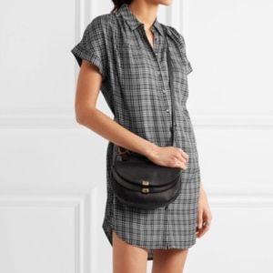 Madewell Plaid T Shirt Button Down Dress