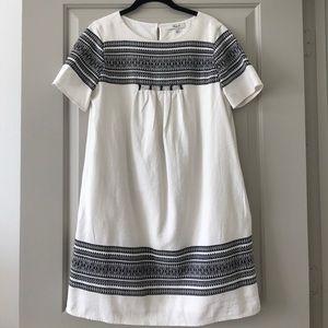 Madewell Cabana Jacquard Shift Dress - Medium