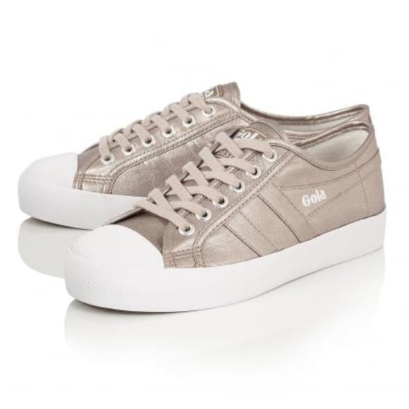 b3d03bf88079 Gola Coaster Metallic Pewter Sneaker