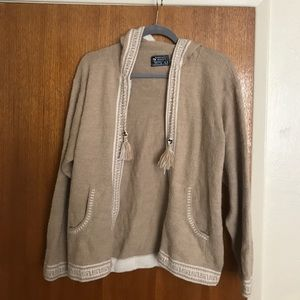Alpaca Zip up Sweater