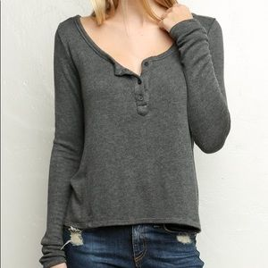 Brandy Melville Nadia knit long sleeve henley