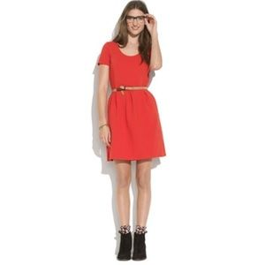 Madewell Red Bistro Dress