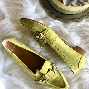 SALAMANDER Lime Green Suede Loafers Sz 6 NEW