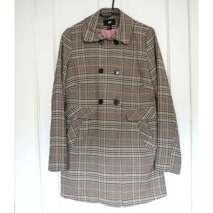H&M Plaid Trench Coat