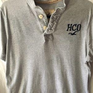 XL Hollister gray Henley shirt