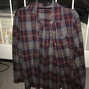 Brandy Melville plaid flannel shirt
