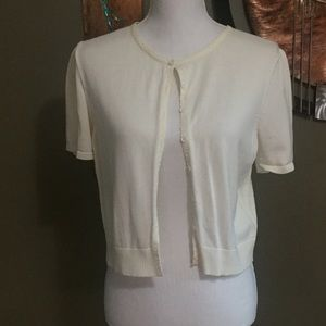 Short Sleeve Cream Sweater