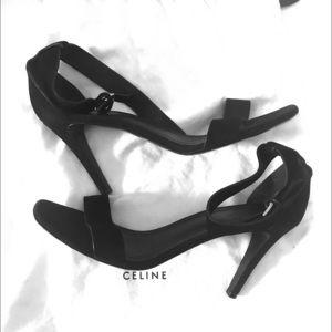 Celine Suede Strap Heels