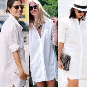 Madewell White Courtyard Shirtdress sz M