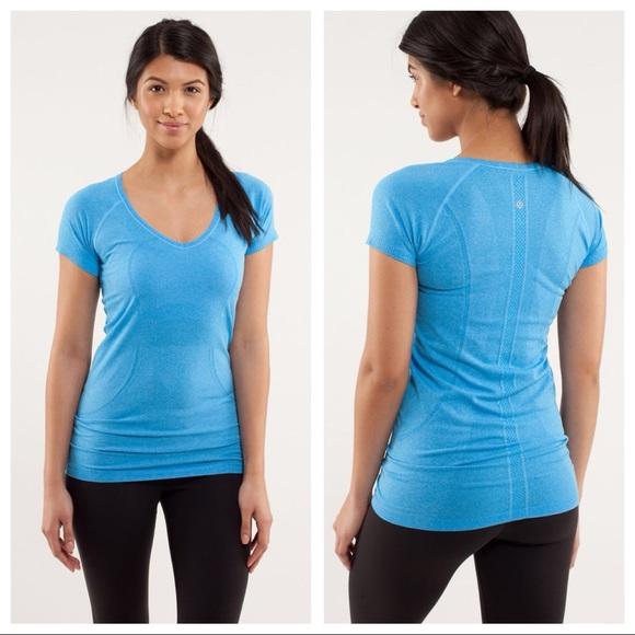 a995664f826 lululemon athletica Tops - Lululemon Run Swiftly Tech V Neck Short Sleeve
