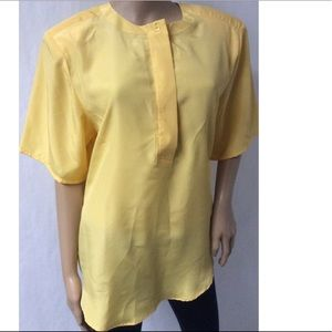 Yellow Vintage Top Size 16