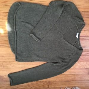 H&M Olive Green Basic Knit Sweater