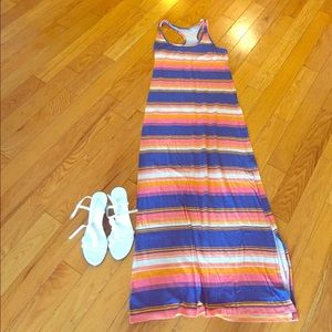 Small striped racer back maxi dress