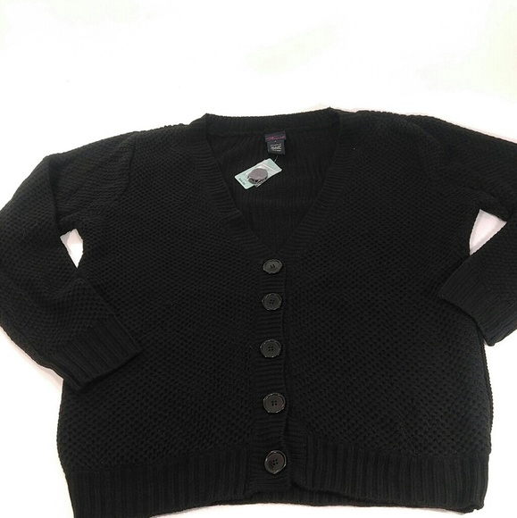 ded2497830b TORRID heavy knit button up sweater 3 4 Sleeve