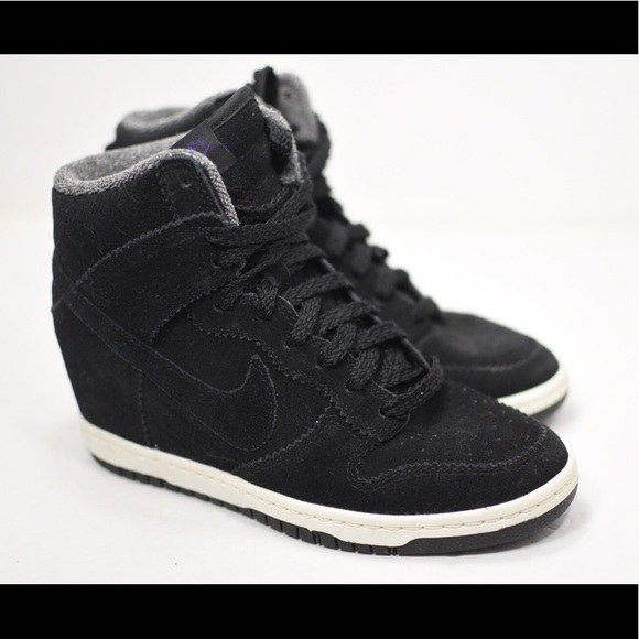 nike dunk sky hi black