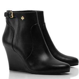 Tory Burch Milan 85 MM WEDGE BOOTIE size 7.5