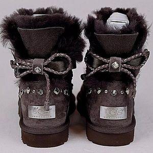Ugg mini Bailey bow crystal boots