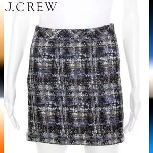 J CREW Chic Blk/Blue Woven Knit Pencil Skirt