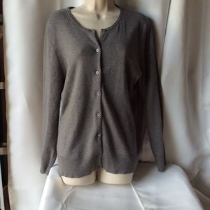 Heather Gray Croat & Barrow Cardigan Sz XL NEW