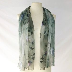 MUTED Floral Sheer Scarf