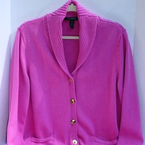 Lauren by Ralph Lauren Cotton Cardigan Size 2X