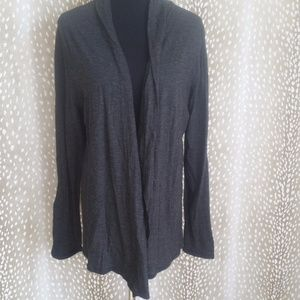 Gap Black Striped Open Front Cardigan Size Xl NWT