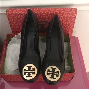 Tory burch wedges. Worn once at work (inside only)