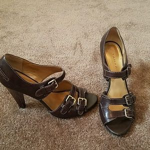 Tamari leather high heel sandle